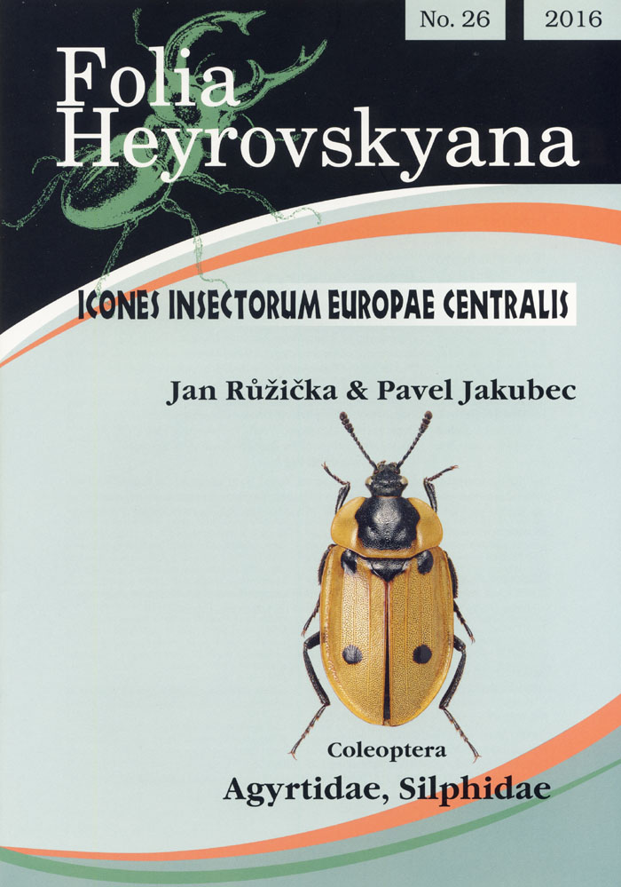 Ruzicka J., Jakubec P., 2016 - Icones Insectorum Europae Centralis No. 26 Coleoptera: Agyrtidae, Silphidae
